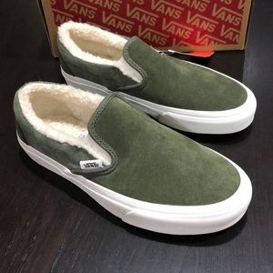 Vans Classic Slip-On Suede Sherpa Grape Leaf